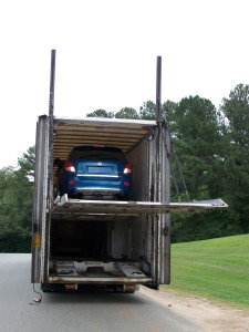 Saturn VUE Leaving the Trailer