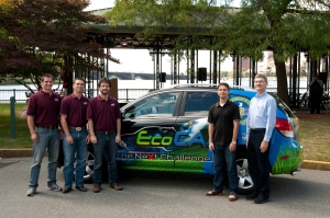 Virginia Tech Team In Front of Saturn VUE